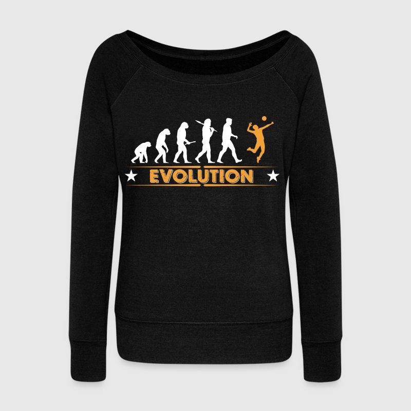 Volleyball Evolution - orange/weiss - Pull Femme col bateau de Bella