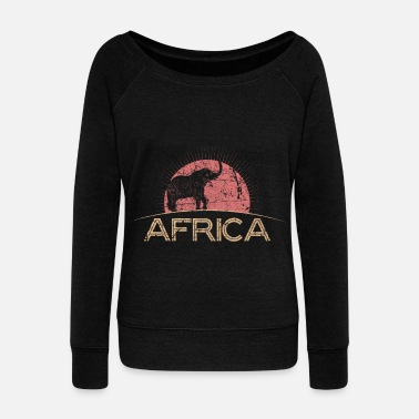Africa Africa - Women's Boat Neck Long Sleeve Top