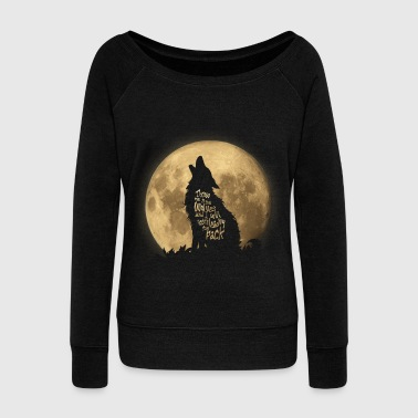 Throw me to the Wolves - Women's Boat Neck Long Sleeve Top