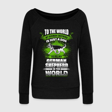 To Me My German Shepherd Is The World - EN - Vrouwen trui met U-hals van Bella