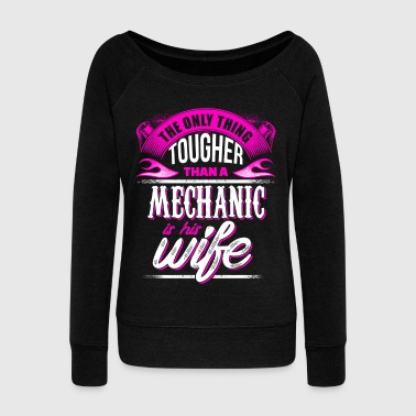 Mechanic  Wife - EN - Women's Boat Neck Long Sleeve Top