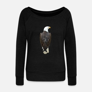 Bird Of Prey Eagle, bird of prey, bird of prey - Women's Boat Neck Long Sleeve Top