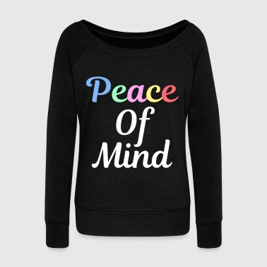 Peace love peace symbol peace symbol peace - Women's Boat Neck Long Sleeve Top