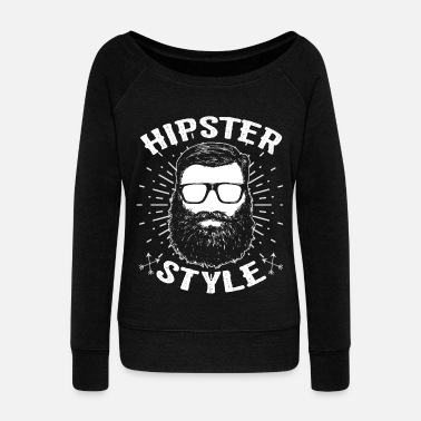 Hipster Hipsters hipster - Women's Boat Neck Long Sleeve Top