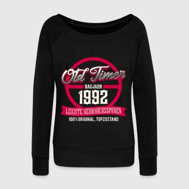 Production Year Vintage - year of production 1992 - top condition - DE - Women's Boat Neck Long Sleeve Top