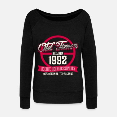 Production Year Vintage - year of production 1992 - top condition - DE - Women's Wide-Neck Sweatshirt