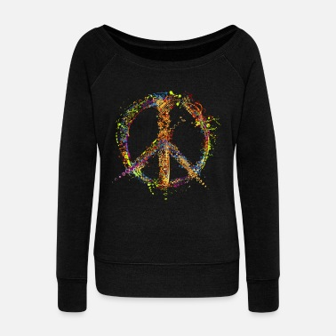 Love PEACE and LOVE  - Pull col bateau Femme
