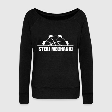 Steal Steal mechanic - Women's Boat Neck Long Sleeve Top