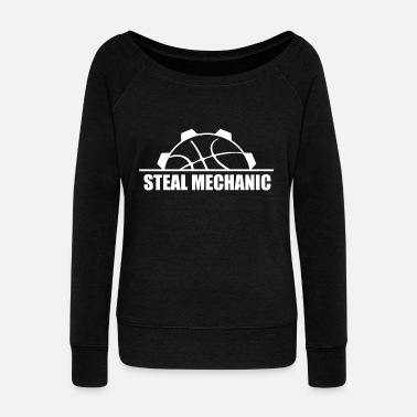 Steal Basketball Steal Steals Turnover Baller Gift - Women's Boat Neck Long Sleeve Top