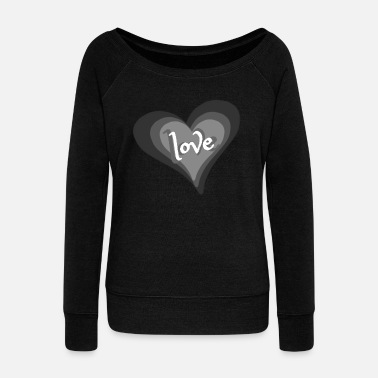 Love With Heart Love with Heart - Frauen Pullover mit U-Ausschnitt