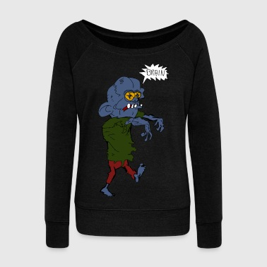 zombie - Women's Boat Neck Long Sleeve Top