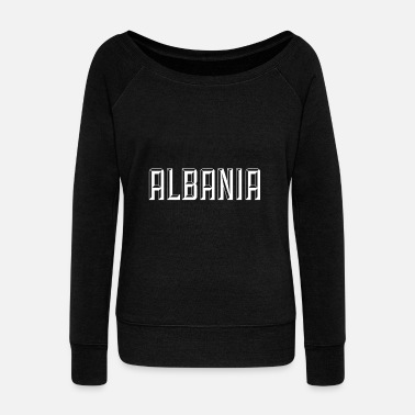 Balkan Albania albania - Women's Boat Neck Long Sleeve Top