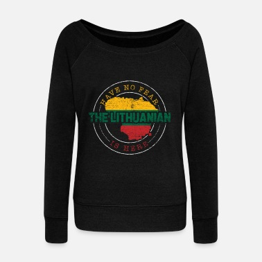Lithuania Lithuania - Women's Boat Neck Long Sleeve Top
