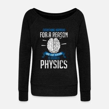 Physics physics - Women's Boat Neck Long Sleeve Top