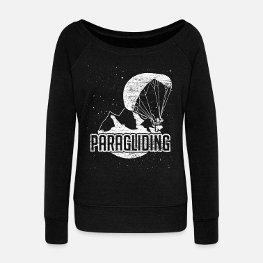 Paragliding Paragliding paraglider - Women's Boat Neck Long Sleeve Top