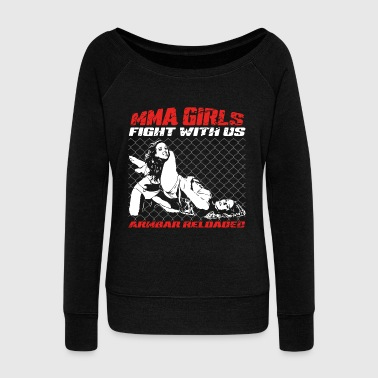 MMA Girls - Fight Wear - Arti marziali - Mix BJJ - Felpa con scollo a barca da donna, marca Bella