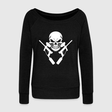 paintball - Women's Boat Neck Long Sleeve Top