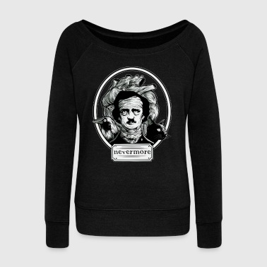 Edgar Allan Poe - Nevermore Shirt - Women's Boat Neck Long Sleeve Top