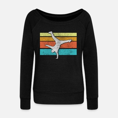 School Breakdance - Retro Vintage Old School Hip Hop - Women's Boat Neck Long Sleeve Top