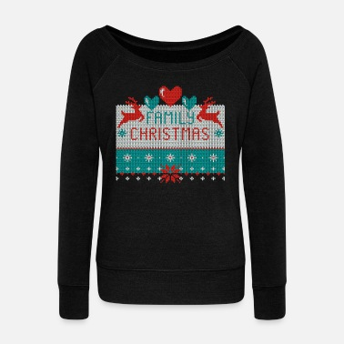 Ugly Christmas Family Christmas Ugly Sweater - Frauen Pullover mit U-Boot-Ausschnitt von Bella