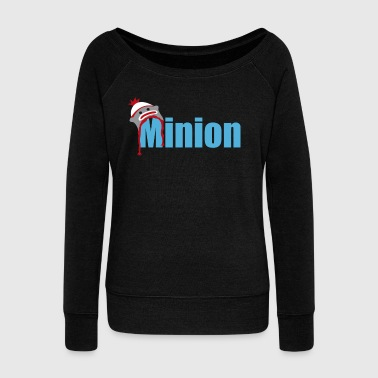 Minion (light blue) - Women's Boat Neck Long Sleeve Top