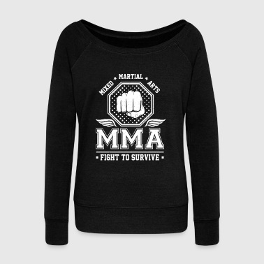 Mixed Martial Arts MMA Fight to survive - Vrouwen trui met U-hals van Bella