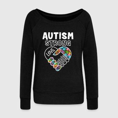 Autism strong love support educate advocate - Pull Femme col bateau de Bella