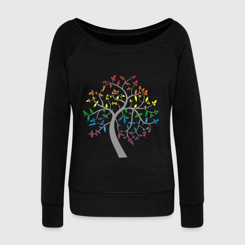 Magic Tree - Women's Boat Neck Long Sleeve Top