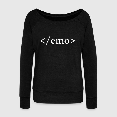 NO EMO - Women's Boat Neck Long Sleeve Top