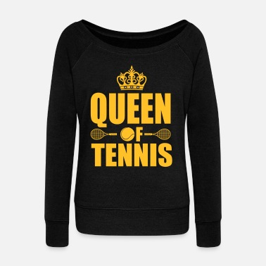 Tennis Queen of Tennis - Felpa con scollo a barca da donna, marca Bella