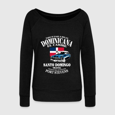 Dominican Republic - Women's Boat Neck Long Sleeve Top