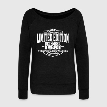 Limited edition december 1981 - Women's Boat Neck Long Sleeve Top