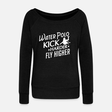 Water Water Polo Gift- Water Polo Aquaball Waterpolo - Women's Boat Neck Long Sleeve Top