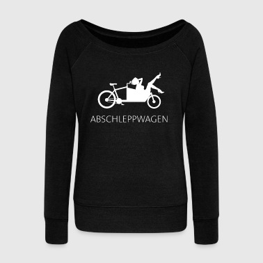 Cargo bike tow truck white - Women's Boat Neck Long Sleeve Top