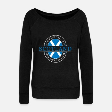 Scotland Scotland Scotland - Women's Boat Neck Long Sleeve Top
