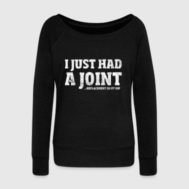 Hip Surgery Gift Funny Joint Replacement T-Shirt - Women's Boat Neck Long Sleeve Top