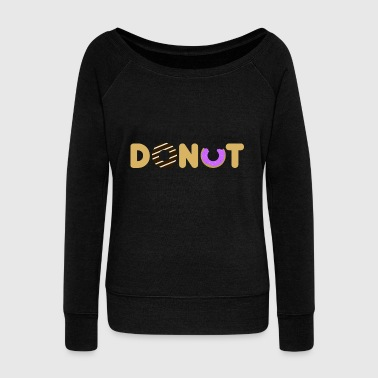 donut - Women's Boat Neck Long Sleeve Top