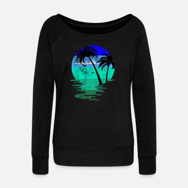 Beach Beach beach - Women's Boat Neck Long Sleeve Top