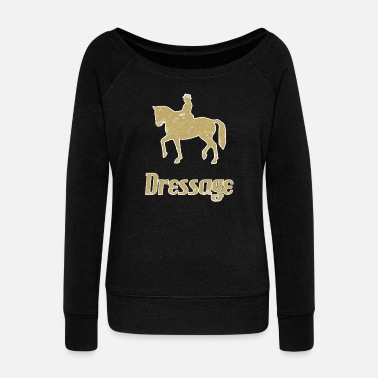 Dressage Dressage Riding Dressage Dressage rider - Women's Boat Neck Long Sleeve Top