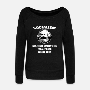Social socialism - Women's Boat Neck Long Sleeve Top