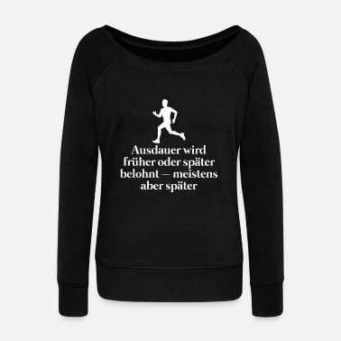Motto Motto stamina - Women's Boat Neck Long Sleeve Top