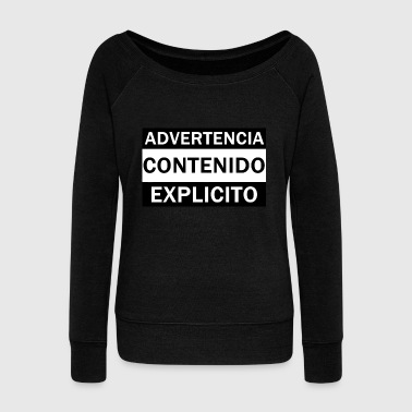 Explicit WARNING CONTENTS EXPLICIT - Women's Boat Neck Long Sleeve Top