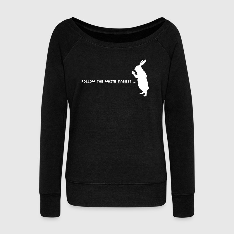 Follow the white rabbit - Women's Boat Neck Long Sleeve Top