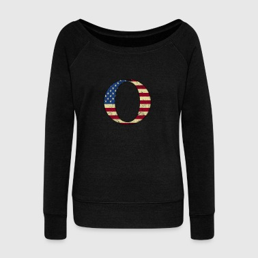 Juntos .O QAnon WWG1WGA USA Flag Group Q Anon Great Awakening - Sudadera con escote drapeado mujer