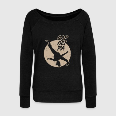 Wrestling Capoeira Sun Master Fighting Martial Fight Sport Gold - Women's Boat Neck Long Sleeve Top