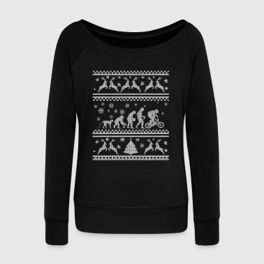 BIKE EVOLUTION CHRISTMAS SEDITION - Women's Boat Neck Long Sleeve Top
