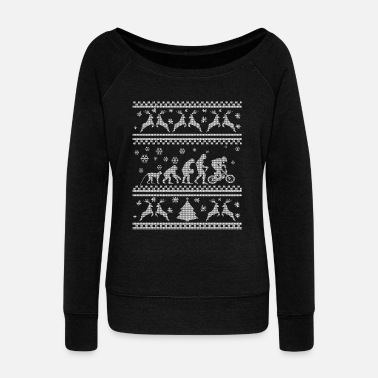 Cycling BIKE EVOLUTION CHRISTMAS SEDITION - Women's Boat Neck Long Sleeve Top