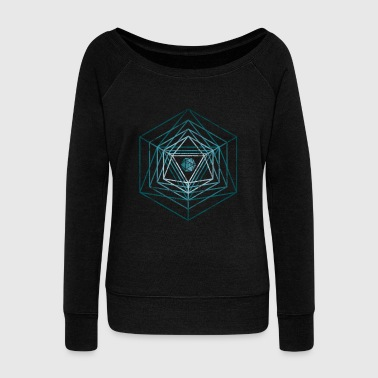 The dice radiate inside me - D & D, dnd - Women's Boat Neck Long Sleeve Top