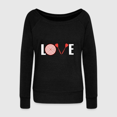 Love Darts - Women's Boat Neck Long Sleeve Top