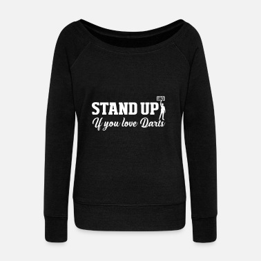 Darts Stand up Dart - Women's Boat Neck Long Sleeve Top